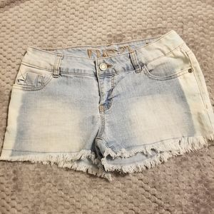 Rue21 Faded Denim Shorts with Faded Blue Sides